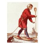 An Ostiak Hunting Ermine Postcard