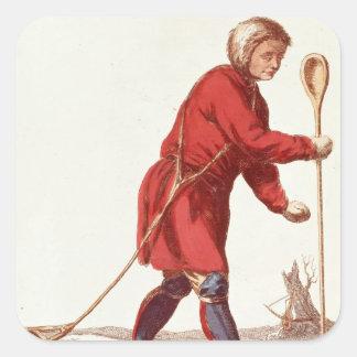 An Ostiak Hunting Ermine Square Sticker