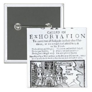 An Ould Ship called an Exhortation' 2 Inch Square Button