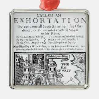 An Ould Ship called an Exhortation' Metal Ornament