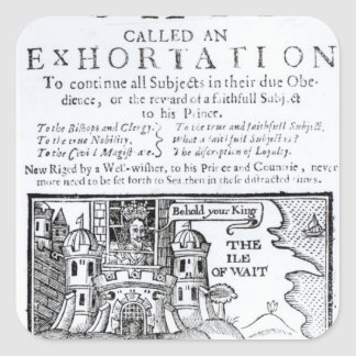 An Ould Ship called an Exhortation' Square Stickers