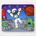 An Outer Space Adventure Mouse Pad