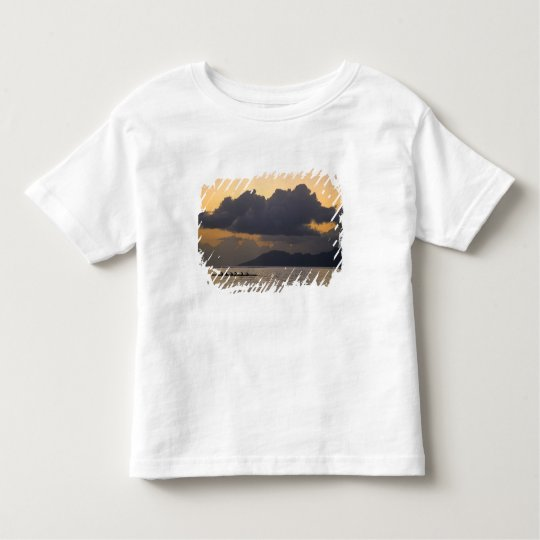 An outrigger canoe team practices off the coast toddler t-shirt