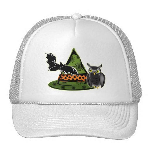 An Owl, A Bat and A Witches Hat