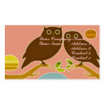 An Owl Couple Double-Sided Standard Business Cards (Pack Of 100)