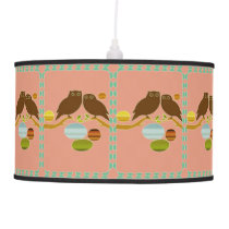 An Owl Couple Hanging Lamp