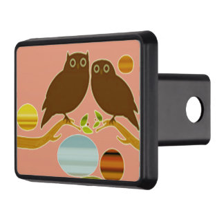 An Owl Couple Hitch Cover