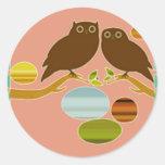 An Owl Couple Sticker
