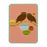 An Owl Couple Vinyl Magnet