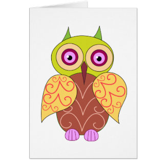 An owl drawing card