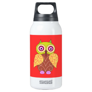An owl drawing insulated water bottle