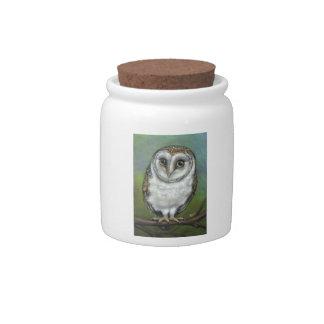 An owl friend by Tanya Bond Candy Jars
