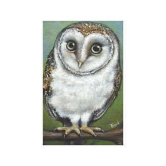 An owl friend by Tanya Bond Gallery Wrapped Canvas