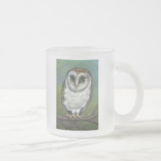 An owl friend by Tanya Bond Frosted Glass Coffee Mug