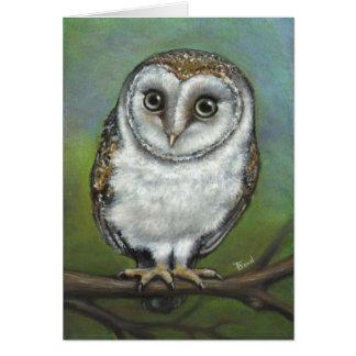 An owl friend by Tanya Bond Greeting Card