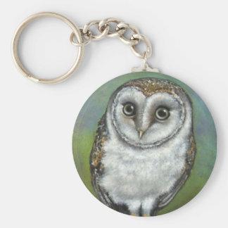 An owl friend by Tanya Bond Keychain