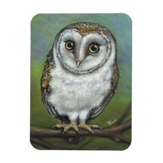 An owl friend by Tanya Bond Rectangular Photo Magnet