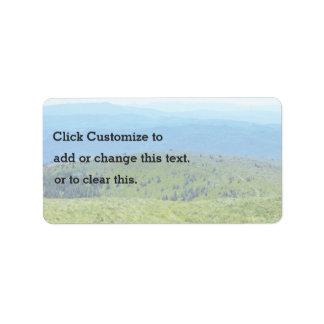 An Photo Of A Landscape Address Label