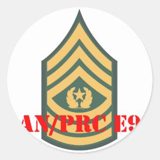 an prc csm classic round sticker
