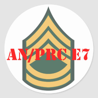 an prc e7 classic round sticker