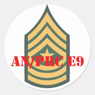 an prc e9 classic round sticker