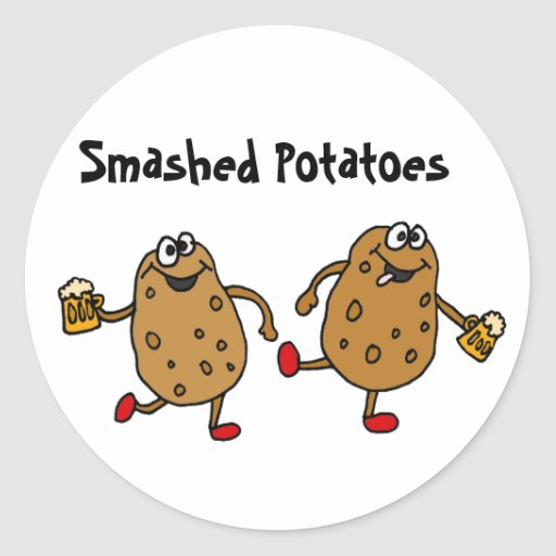 AN- Smashed Potatoes Cartoon Stickers