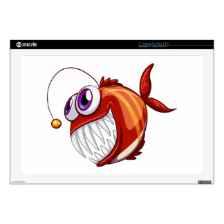 """An ugly angry fish 17"""" laptop decals"""