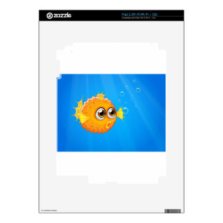 An ugly puffer fish in the ocean skin for iPad 2