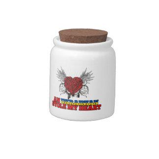 An Ukrainian Stole my Heart Candy Jar
