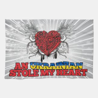 An Ukrainian Stole my Heart Hand Towel