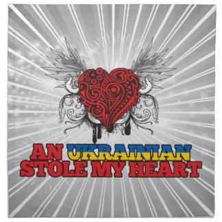 An Ukrainian Stole my Heart Cloth Napkin