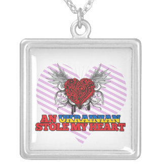 An Ukrainian Stole my Heart Personalized Necklace