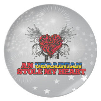 An Ukrainian Stole my Heart Dinner Plates