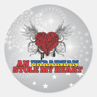 An Ukrainian Stole my Heart Round Stickers