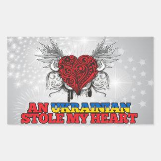 An Ukrainian Stole my Heart Sticker