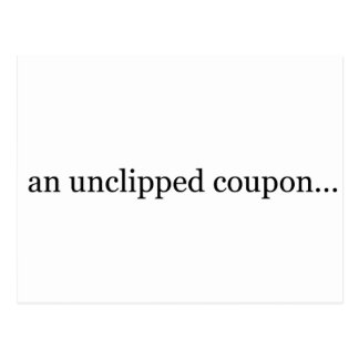 an unclipped coupon postcard