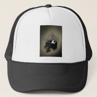 An Uncomfortable Gentleman Trucker Hat