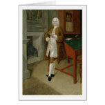 An Unknown Man in a Library, c.1740-41 (oil on can Card