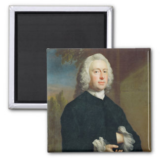 An Unknown Man in Black, 1735 (oil on canvas) Magnet