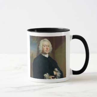 An Unknown Man in Black, 1735 (oil on canvas) Mug