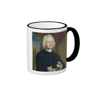 An Unknown Man in Black, 1735 (oil on canvas) Ringer Coffee Mug