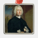 An Unknown Man in Black, 1735 (oil on canvas) Christmas Ornaments