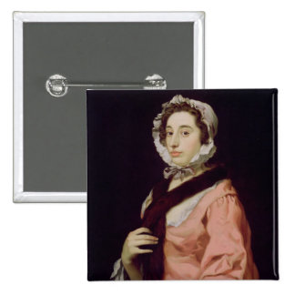 An Unknown Woman, called Peg Woffington (oil on ca Pinback Buttons