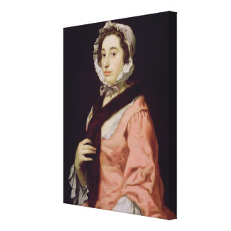 An Unknown Woman, called Peg Woffington (oil on ca Canvas Print