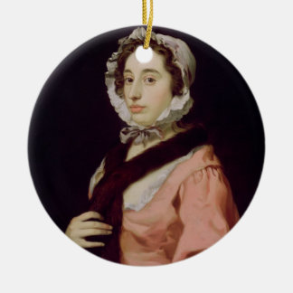 An Unknown Woman, called Peg Woffington (oil on ca Ceramic Ornament