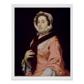 An Unknown Woman called Peg Woffington oil on ca Print