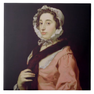 An Unknown Woman, called Peg Woffington (oil on ca Tile