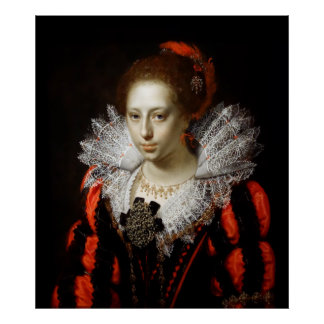 AN UNKNOWN YOUNG LADY  1620 POSTER