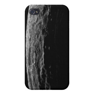 An unreal landscape of Saturn's moon Case For iPhone 4