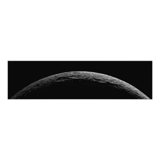 An unreal landscape of Saturn's moon Photo Print